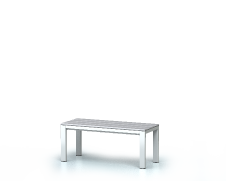 Benches with PVC sticks -  basic version 420 x 1000 x 400