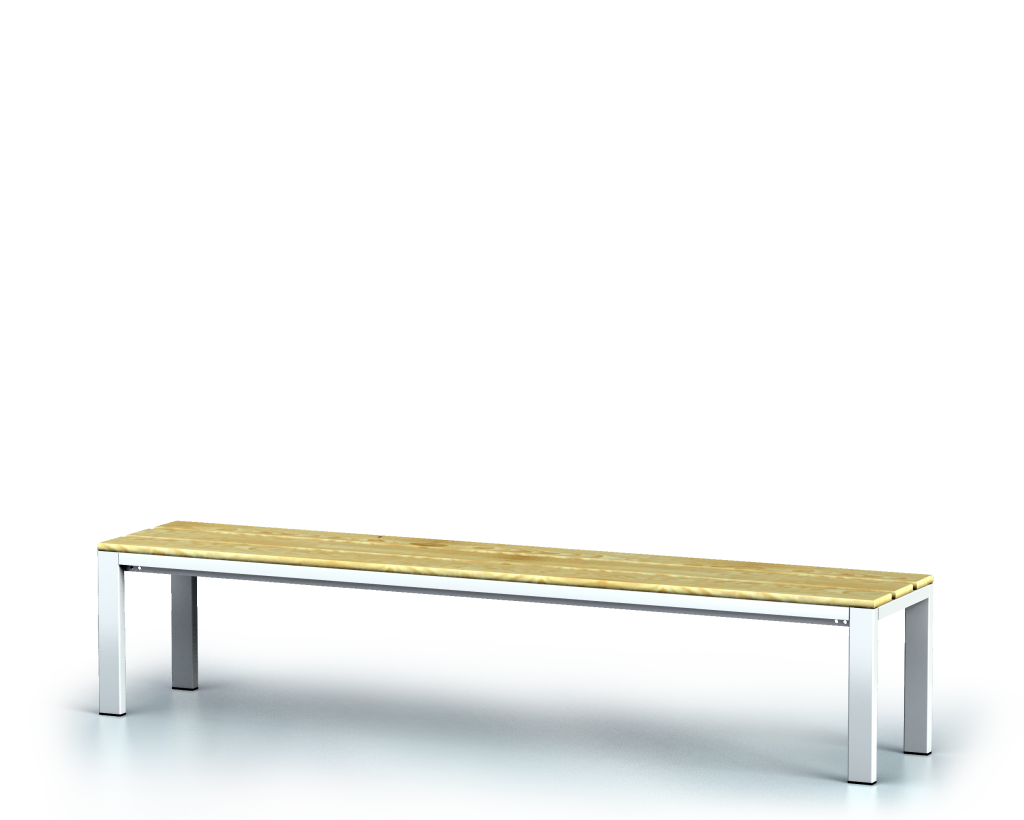 Benches with spruce sticks -  basic version 420 x 2000 x 400