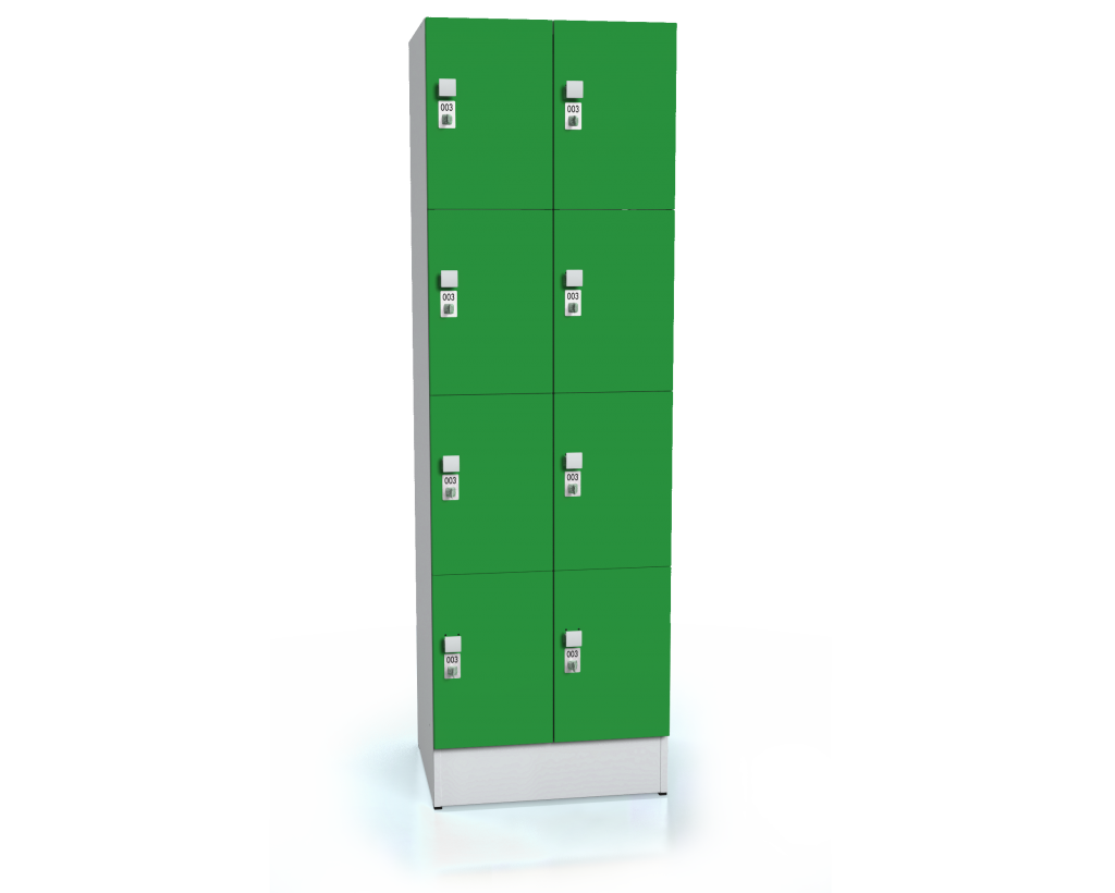 Premium lockers with eight lockable boxes ALFORT AD 1920 x 600 x 520