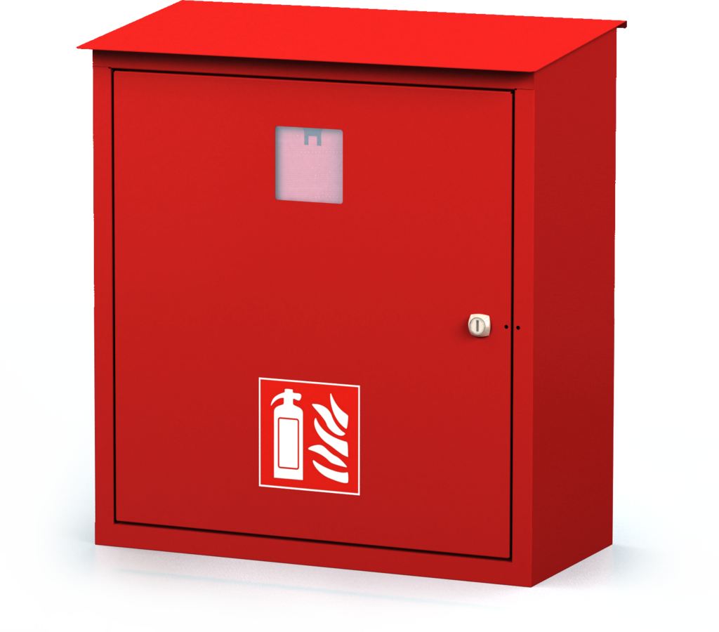 Exterior cabinets for fire extinguishers 580 x 520 x 240