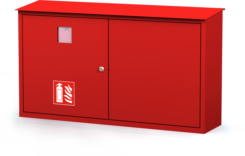 Exterior cabinets for fire extinguishers 580 x 1020 x 240