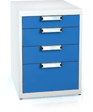 Universal cabinet for workbenches 662 x 480 x 600 - 4x drawer
