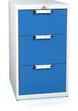 Universal cabinet for workbenches 840 x 480 x 600 - 3x drawer