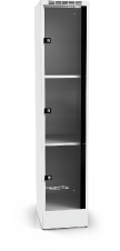 Locker with three glass-filled doors 1920 x 400 x 500
