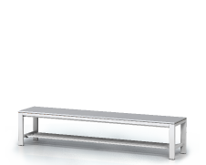 Benches with laminated desk -  with a reclining grate 420 x 2000 x 400