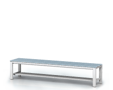 Benches with PVC sticks -  with a reclining grate 420 x 2000 x 400
