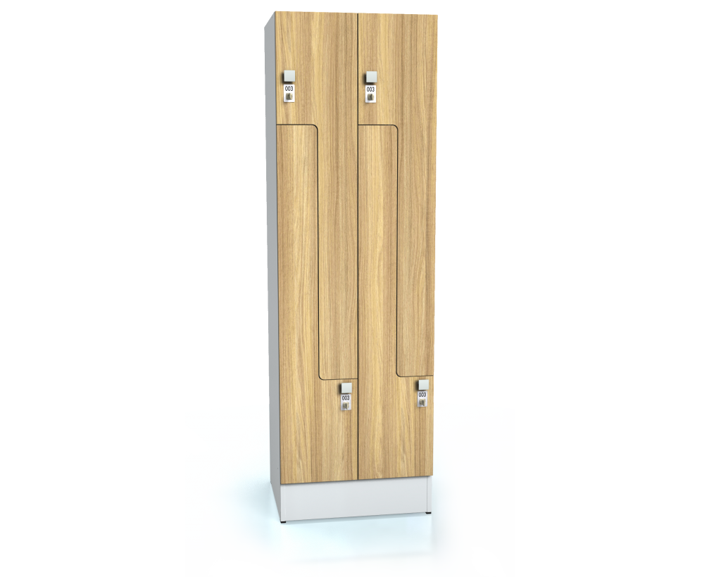 Premium lockers Z-shaped doors ALFORT DD 1920 x 600 x 520