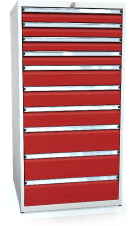 Drawer cabinet 1373 x 710 x 750 - 10x drawers