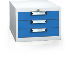 Hanging UNI line cabinet for workbenches 351 x 480 x 600 - 3x drawer