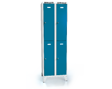 Divided cloakroom locker ALDOP with feet 1920 x 600 x 500