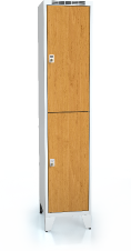 Divided cloakroom locker ALDERA with feet 1920 x 400 x 500