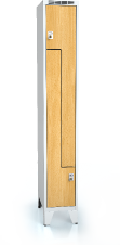 Cloakroom locker Z-shaped doors ALDERA with feet 1920 x 300 x 500
