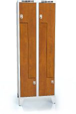 Cloakroom locker Z-shaped doors ALDERA with feet 1920 x 700 x 500
