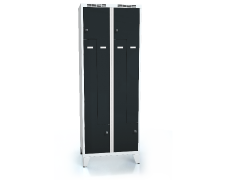Cloakroom locker Z-shaped doors ALSIN with feet 1920 x 700 x 500