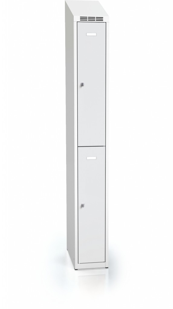 Divided cloakroom locker ALDOP with sloping top 1995 x 250 x 500