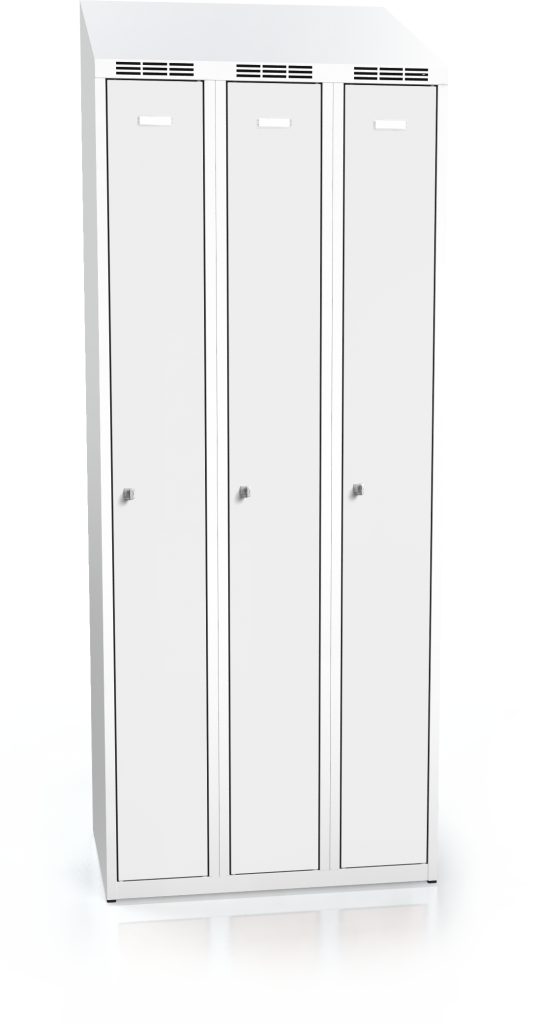 Cloakroom locker ALDOP with sloping top 1995 x 750 x 500