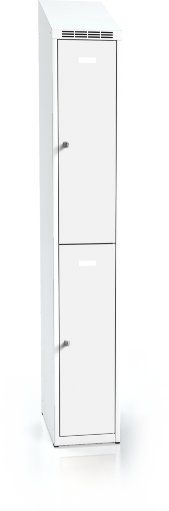 Divided cloakroom locker ALDOP with sloping top 1995 x 300 x 500