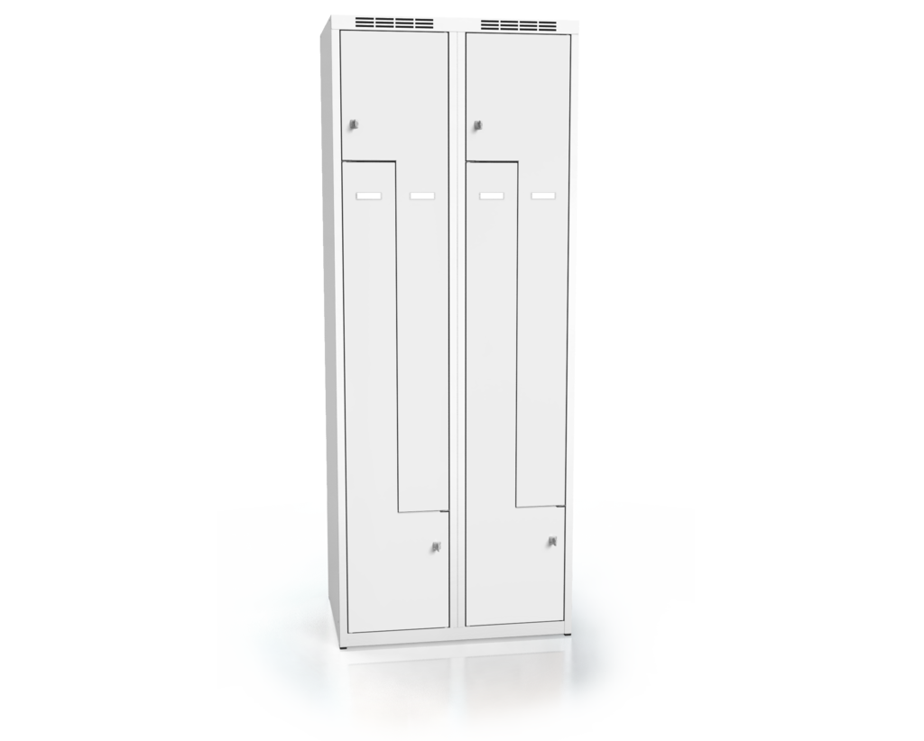 Cloakroom locker Z-shaped doors ALDUR 1 1800 x 700 x 500