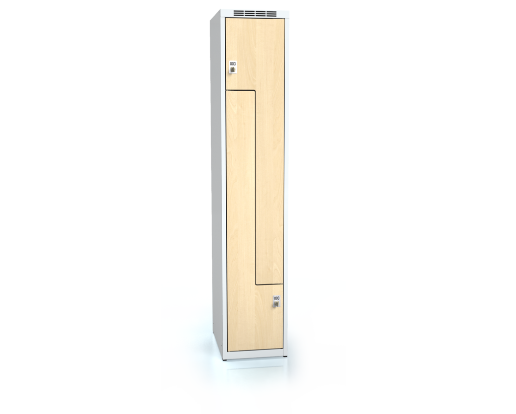 Cloakroom locker Z-shaped doors ALDERA 1800 x 350 x 500