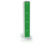 Cloakroom locker with four lockable boxes ALSIN 1800 x 300 x 500
