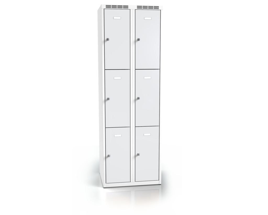 Cloakroom locker with six lockable boxes ALSIN 1800 x 600 x 500