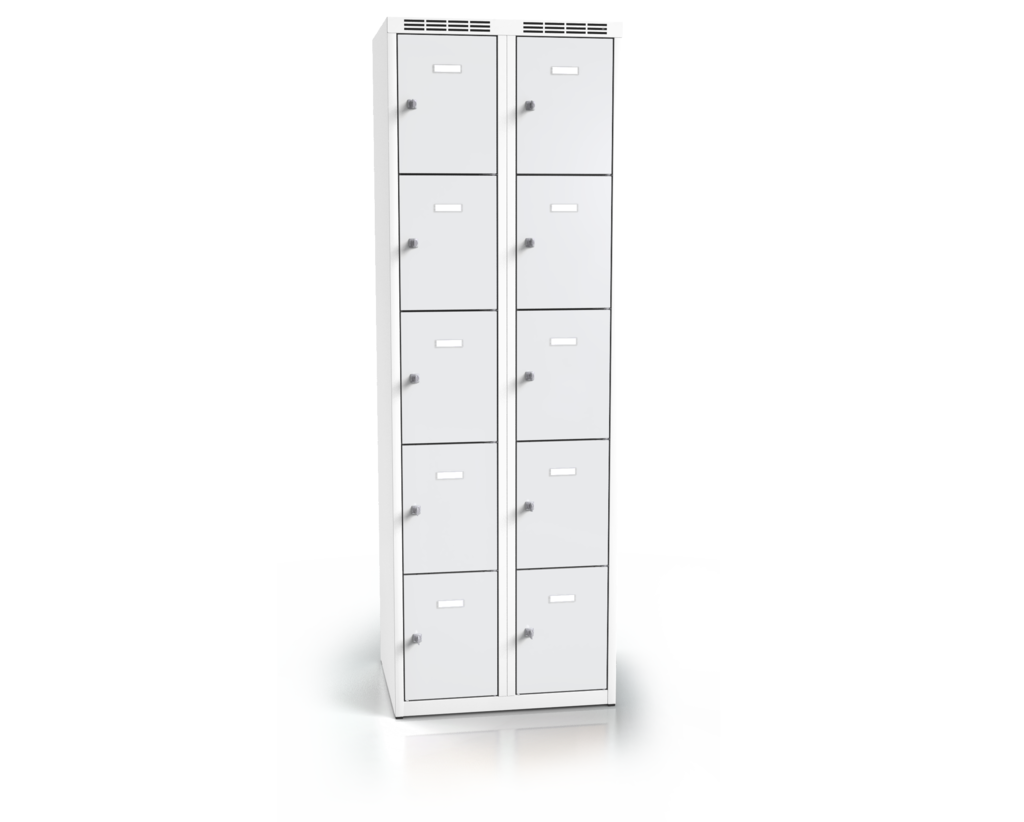 Cloakroom locker with ten lockable boxes ALDOP 1800 x 600 x 500