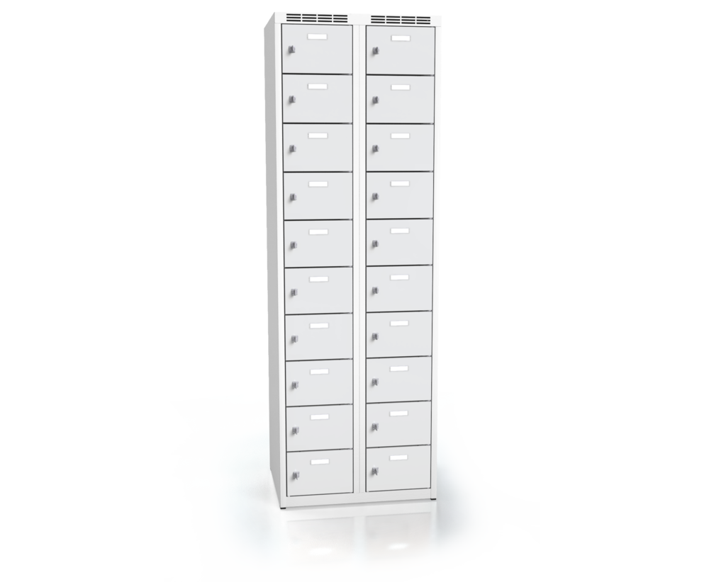 Cloakroom locker with twenty lockable boxes ALDOP 1800 x 600 x 500