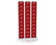 Cloakroom locker with thirty lockable boxes ALDOP 1800 x 900 x 500