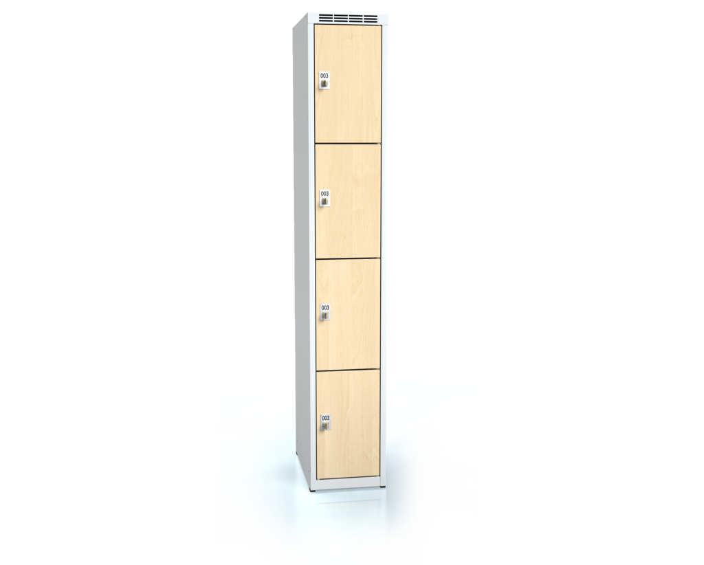 Cloakroom locker with four lockable boxes ALDERA 1800 x 300 x 500