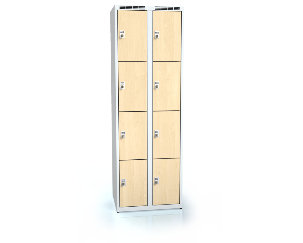 Cloakroom locker with eight lockable boxes ALDERA 1800 x 600 x 500