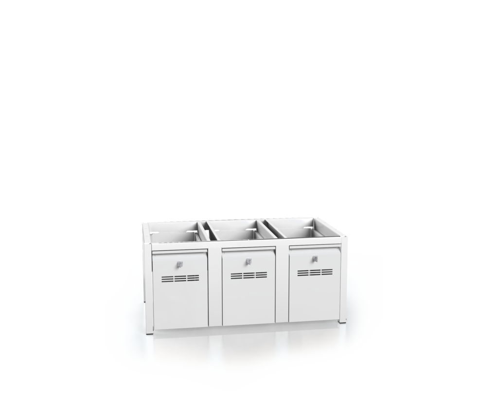Additional cabinets for lockers - with drawers for footwear 375 x 900 x 500