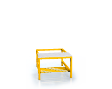 Benches with PVC sticks - with a reclining grate 375 x 600 x 800