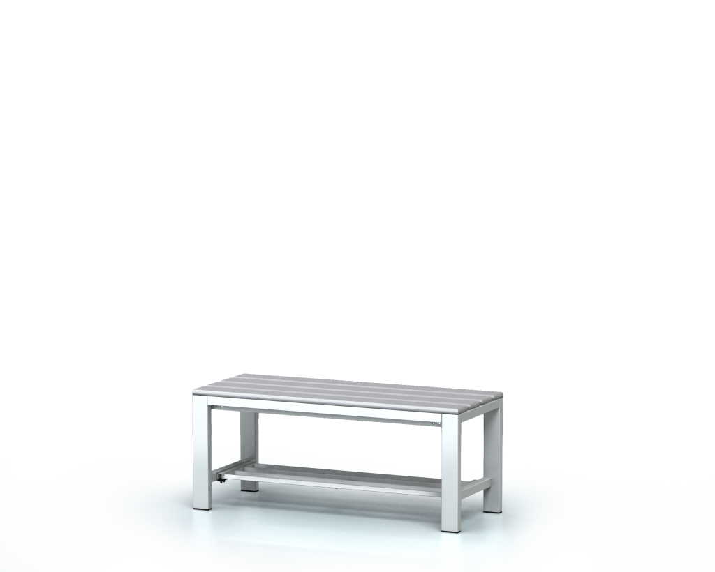 Benches with PVC sticks -  with a reclining grate 420 x 1000 x 400
