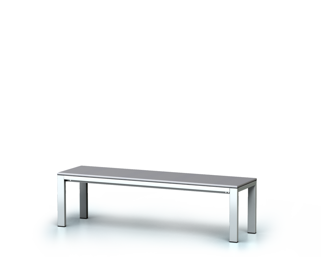 Benches with laminated desk -  basic version 420 x 1500 x 400
