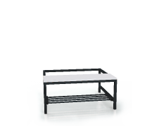 Benches with laminated desk - with a reclining grate 375 x 900 x 800