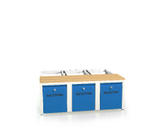 Benches with beech sticks - with drawers for footwear 375 x 1050 x 800