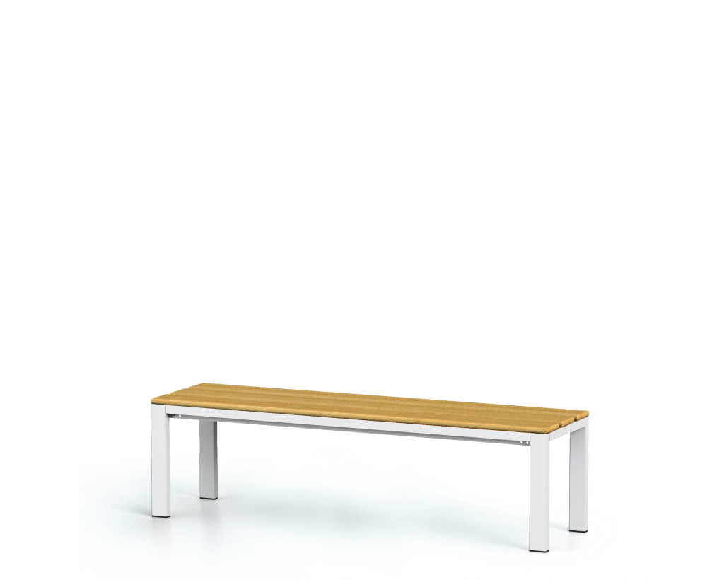Benches with beech sticks -  basic version 420 x 1500 x 400