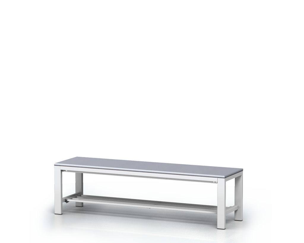 Benches with laminated desk -  with a reclining grate 420 x 1500 x 400