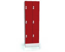 Premium lockers with six lockable boxes ALFORT AD 1920 x 600 x 520