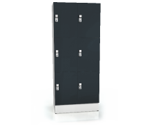 Premium lockers with six lockable boxes ALFORT AD 1920 x 800 x 520