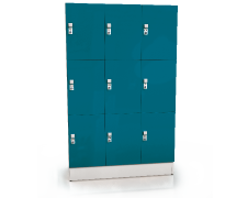 Premium lockers with nine lockable boxes ALFORT AD 1920 x 1200 x 520