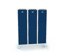 Cloakroom locker reduced height ALSIN with feet 1620 x 1200 x 500