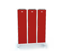 Cloakroom locker reduced height ALDUR 1 with feet 1620 x 1200 x 500
